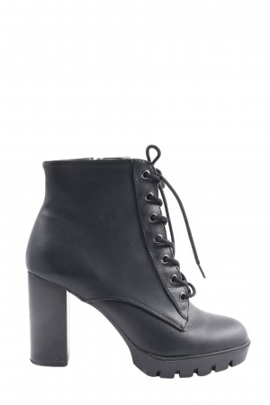 Primark Bottines à lacets noir style décontracté