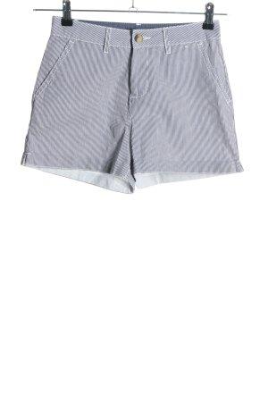 Primark Shorts schwarz-weiß Streifenmuster Casual-Look