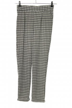 Primark Jersey Pants black-white allover print casual look