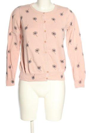 Primark Strickjacke pink-schwarz Allover-Druck Casual-Look