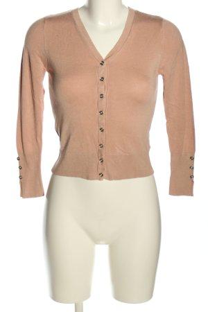 Primark Strickjacke pink-silberfarben Casual-Look