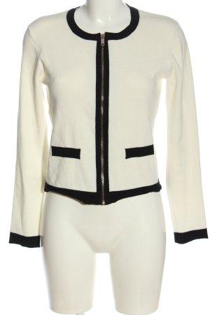 Primark Strickjacke weiß-schwarz Casual-Look