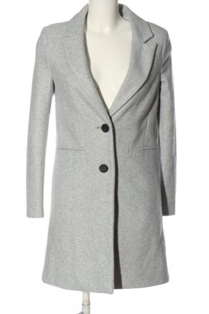 Primark Knitted Coat light grey flecked casual look