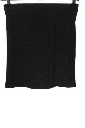 Primark Gonna lavorata a maglia nero stile casual