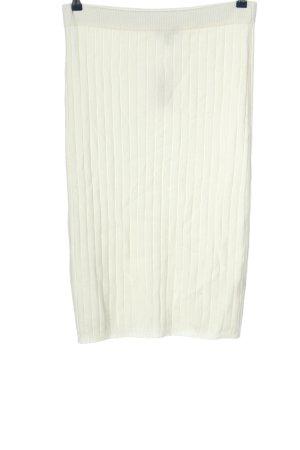 Primark Spódnica z dzianiny biały W stylu casual
