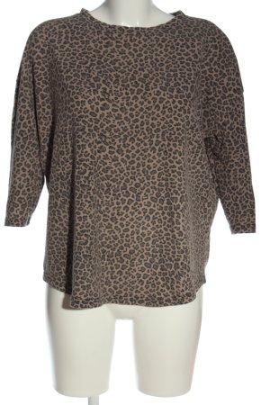 Primark Camisa tejida marrón estampado repetido sobre toda la superficie