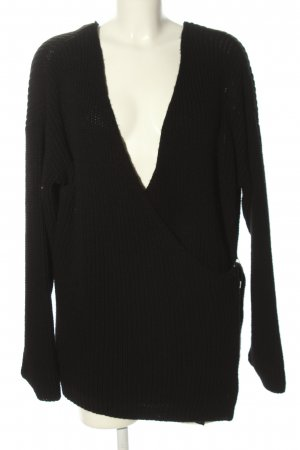 Primark Knitted Wrap Cardigan black casual look