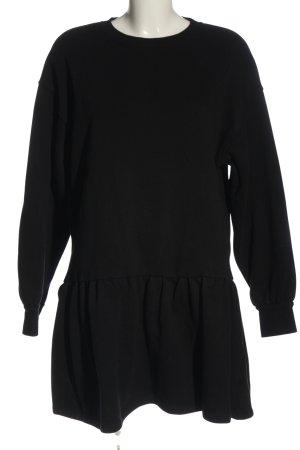 Primark Sweatkleid schwarz meliert Casual-Look