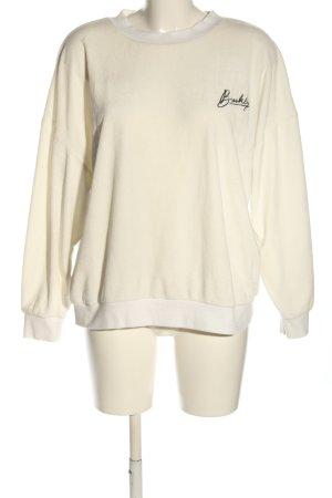 Primark Sweatshirt weiß Schriftzug gestickt Casual-Look