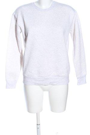 Primark Sweatshirt weiß meliert Casual-Look