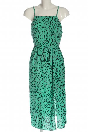 Primark Trägerkleid grün-schwarz Allover-Druck Casual-Look