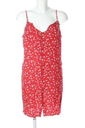 Primark Vestido tipo overol rojo-blanco estilo sencillo