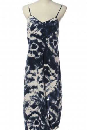 Primark Trägerkleid weiß-blau abstraktes Muster Casual-Look