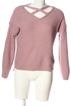 Primark V-Ausschnitt-Pullover pink Casual-Look