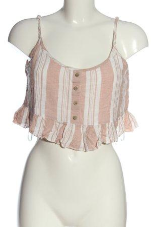 primarkt Cropped Top pink-weiß Streifenmuster Casual-Look