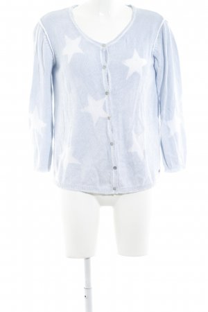 Princess Cardigan weiß-blassblau Motivdruck Street-Fashion-Look