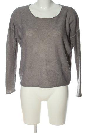 Princess goes Hollywood Pullover in cashmere grigio chiaro puntinato