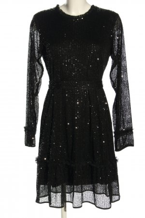 Princess goes Hollywood Vestido de lentejuelas negro elegante