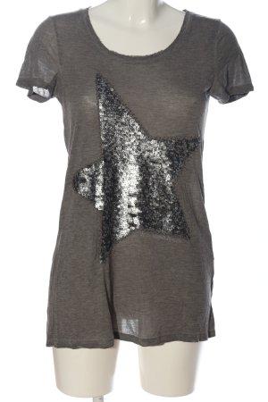 Princess goes Hollywood Print-Shirt hellgrau-silberfarben meliert Casual-Look