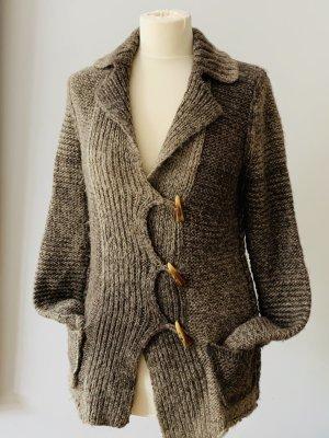 Princess goes Hollywood Cardigan grey brown alpaca wool