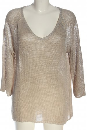 Princess goes Hollywood V-Neck Sweater cream-silver-colored casual look