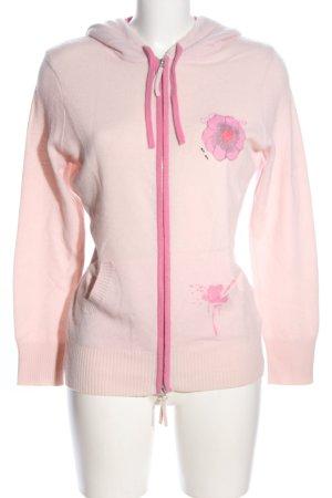 Princess goes Hollywood Wolljacke creme-pink Blumenmuster Casual-Look