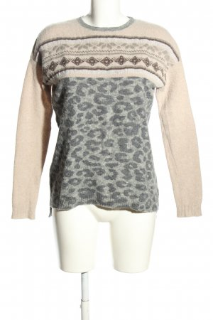 Princess goes Hollywood Wollpullover creme-hellgrau Animalmuster Casual-Look