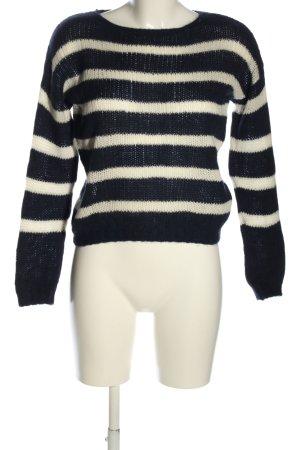 Princess goes Hollywood Maglione di lana blu-bianco motivo a righe stile casual