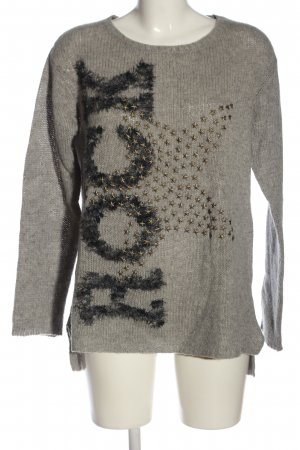 Princess goes Hollywood Cable Sweater light grey printed lettering casual look
