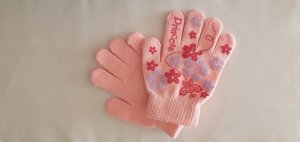 Princess Handschuhe rosa mit Motiv