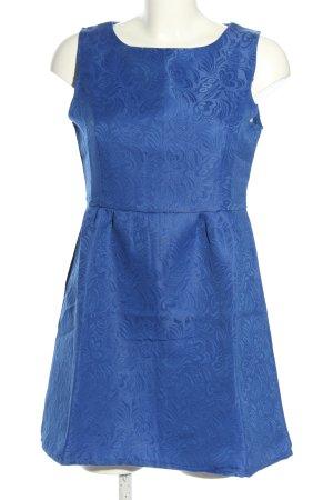 Princess Minikleid blau Allover-Druck Elegant