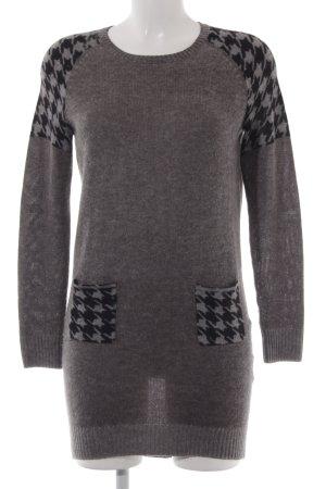 Princess Pulloverkleid grau-schwarz abstraktes Muster Casual-Look