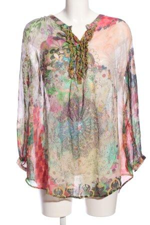 Princess Blusa transparente estampado con diseño abstracto look casual