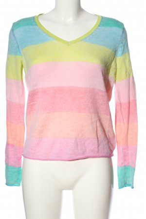 Princess V-Neck Sweater flecked casual look