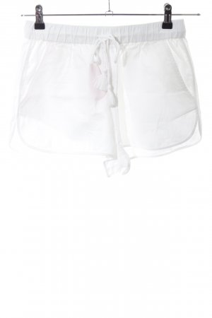 Princesse tam.tam Pantaloncino a vita alta bianco stile casual