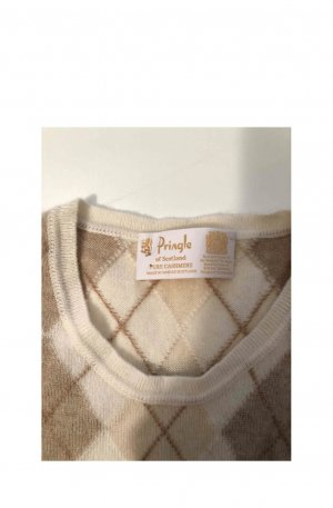 Pringle of Scotland Knitted Top cream-black