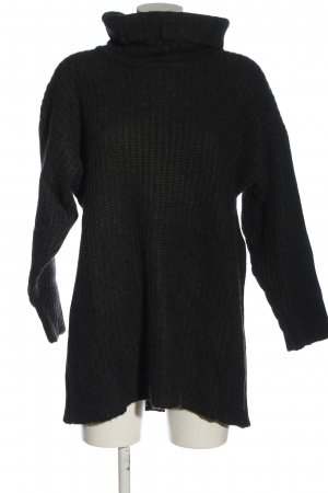 Pringle of Scotland Oversized Pullover schwarz Zopfmuster Casual-Look