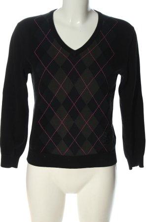 Pringle of Scotland V-Ausschnitt-Pullover Karomuster Casual-Look