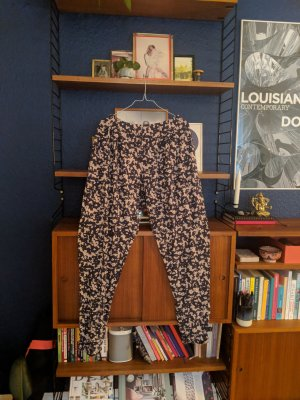 Print cotton pants