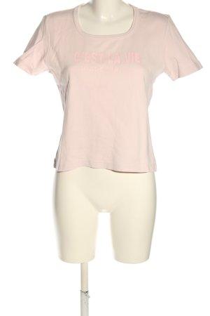 Print-Shirt pink Casual-Look