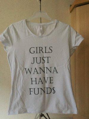 B&C Exact 190 Shirt met print wit-zwart