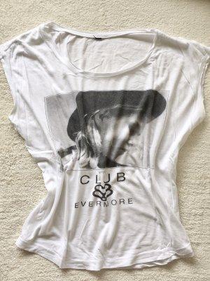 Print Shirt weiß schwarz Gr. XS/S