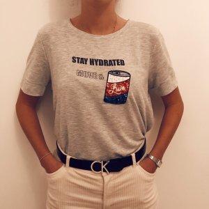 Print T-Shirt mit Pailettendetail