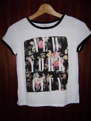 American Eagle Outfitters Shirt met print veelkleurig Gemengd weefsel