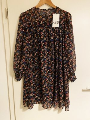 Printed Dress A Shape ZARA
