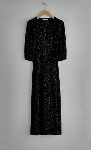 & other stories Robe portefeuille noir