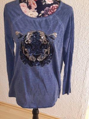 BC T-shirt imprimé bleu acier
