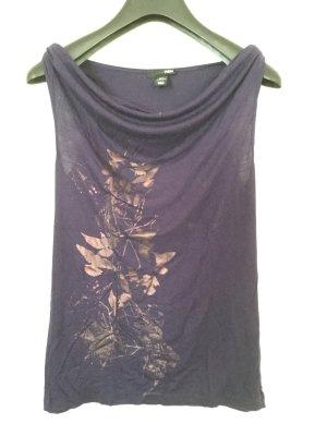 H&M Camisa con cuello caído violeta azulado