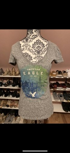 american eagle T-shirt gris