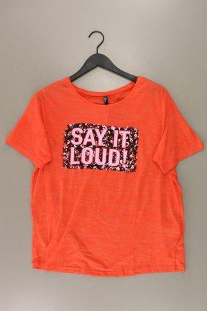 Printshirt Größe 46 Kurzarm orange